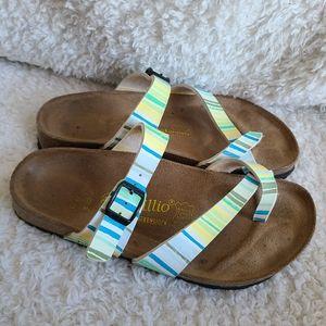 Birkenstock Papillio Mayari Striped Pattern Sandal